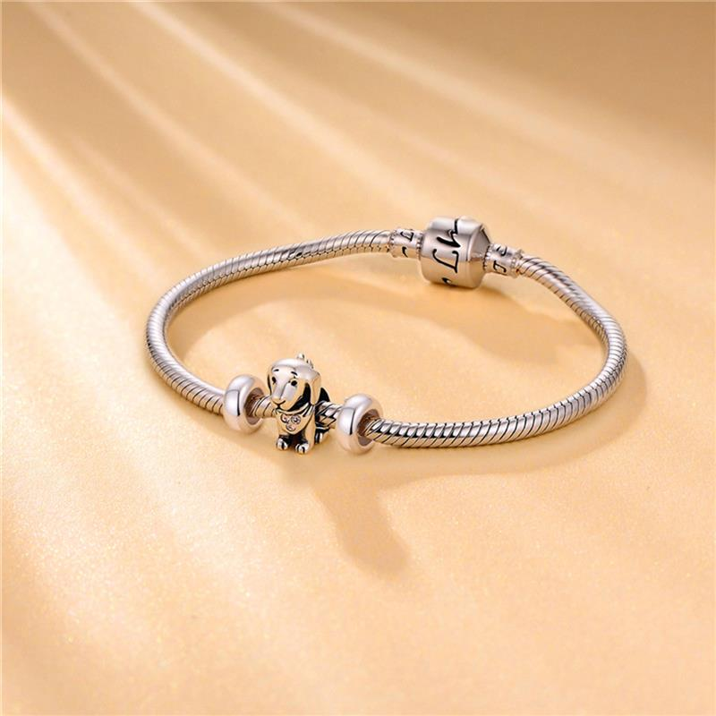 DALARAN 2 Pcs lot 925 Sterling Silver Stopper Spacer Beads Fit Charm Diy Bracelet Bangle For Women Authentic Jewelry Making in Beads from Jewelry Accessories