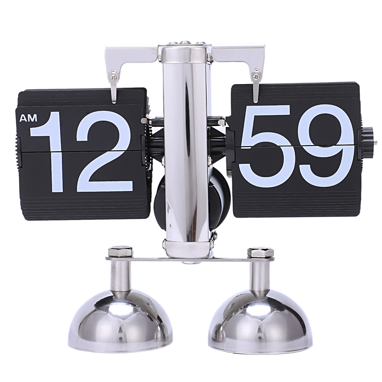 Hot Vintage Retro Flip Clock Scale Modern Digital Auto Page Turning Dual Stand Flip Clocks Home Decor Desk Table Quartz Clock