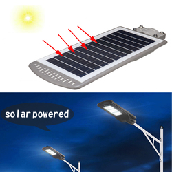1 шт. 40 Вт солнечная панель светодиодный уличный фонарь на солнечной батарее все-в-1 переключатель времени Водонепроницаемый IP67 настенный св...