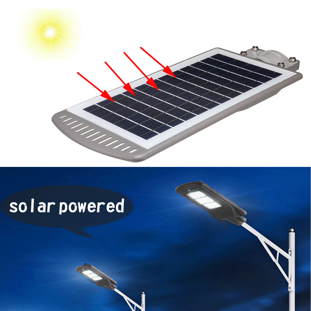 1PC 40W Solar Powered Panel LED Solar Street Light All-in-1 Time Switch Waterproof IP67 Wall Lighting Lamp For Outdoor Garden