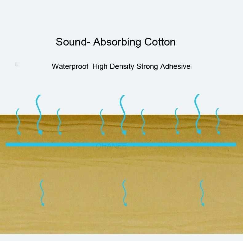 50*200cm tłumik dźwięku samochodu izolacja akustyczna hałas dźwiękoszczelne Bloack ciepła i dźwięku izolacja termiczna Pad