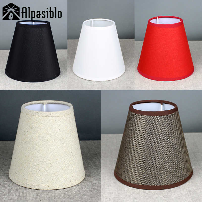 S E27 E14 handmade linen lamp shade for wall light Rustic bedroom bedside table lamp Country retro lampshade chandelier cover