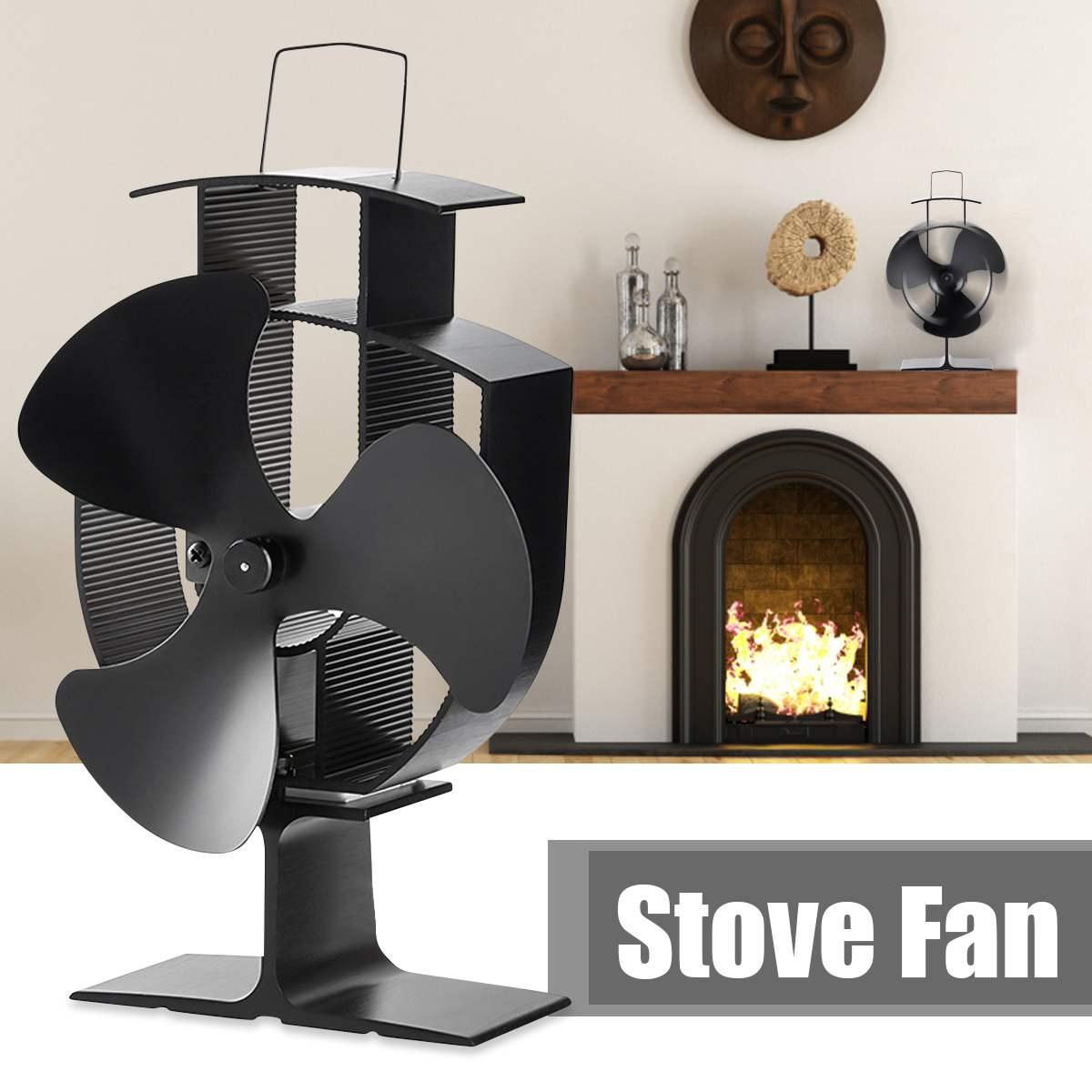 3 Лопасти теплового вентилятора печи дровяной вентилятор печи для древесины/горелки журнала/камина-Эко-дружелюбный