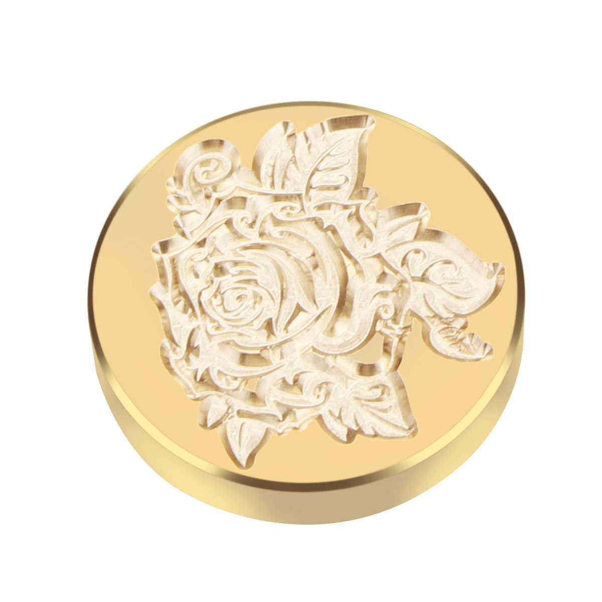 new arrivalRetro Sealing Wax Stamp Copper Head Round Copper Head For Envelope Sealing Clear Stamps Embossing Folder