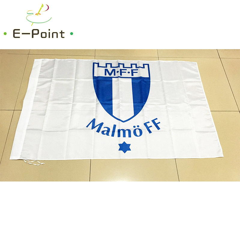 Sweden <font><b>Malmo</b></font> FF 3ft*5ft (90*150cm) Size Christmas Decorations for Home Flag Banner Type A Gifts image