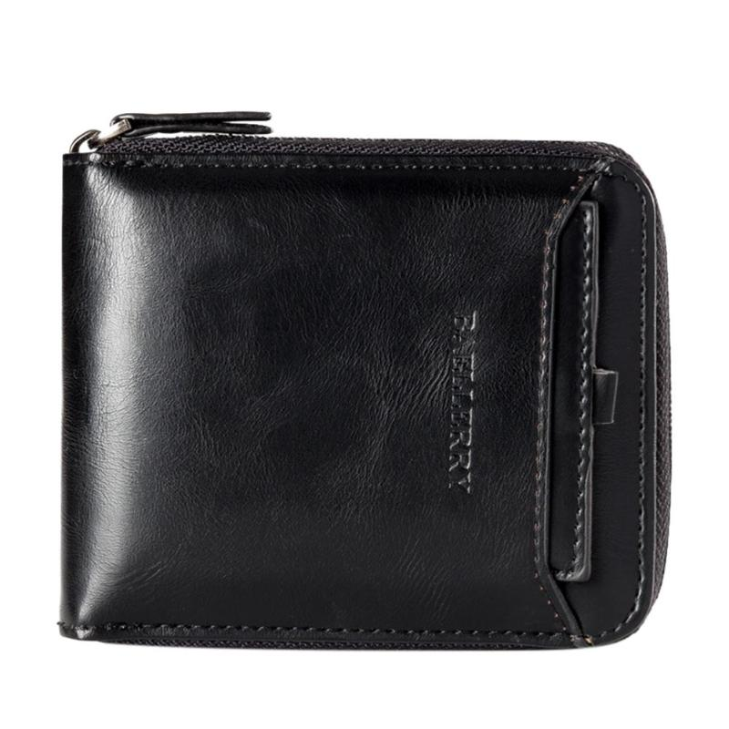 Luxury Brand Men's Wallet PU Leather Short Coin Purse Zipper Male Clutch Bag for Men Small Trifold Wallet Card Holder 2019 New