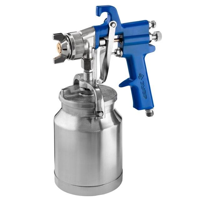 Краскораспылитель пневматический ЗУБР ПРОФЕССИОНАЛ ПРО Н350 (Объем бачка 1 л, верхнее расположение, рабочее давление 3,4 бар, диаметр сопла 1,8 мм)