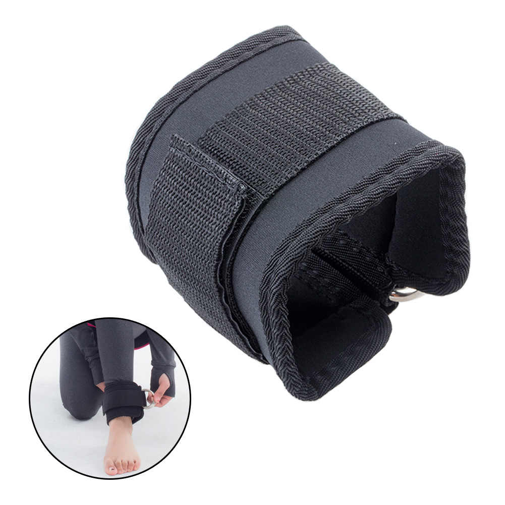 Ankle Support Sports Safety 2pcs Fitness Sports Thigh Double D Ring Leg Pulley Weight Lifting Ankle Strap Adjustable Cable Attachment Wrist Belt Cuff Gym