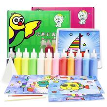 Детский набор для рисования песком DIY раскраска на основе песчаной живописи цветной песок игрушка для мальчиков и девочек детский сад головоломка ручной работы Песочная живопись