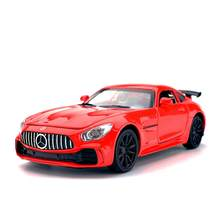 1:32 Benz AMG GTR Model Sports Car Sound & Light Alloy Diecast Toy Vehicles Children Birthday Gift(China)