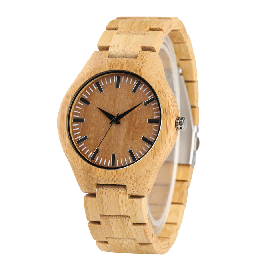 Brown Color Dial Quartz Wood Watch Men Nature Bamboo Sport Mens Watches Bracelet Clasp Male Clock Best Gift for Man TimepiecesBrown Color Dial Quartz Wood Watch Men Nature Bamboo Sport Mens Watches Bracelet Clasp Male Clock Best Gift for Man Timepieces