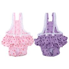 Хлопок дышащий Сладкий Точки менструальные гигиенические подтяжки брюки для домашних собак менструации нижнее белье трусы товары для домашних животных