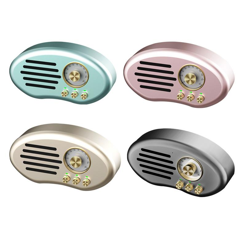 FM Radio Sans Fil Base Stéréo haut-parleur bluetooth Radio Mini caisson de basses audio Carte u Disque Rétro Personnalité Radio