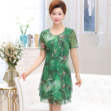 Summer Dress Middle Aged Women Casual Short Sleeve A Line Floral Print Clothes Robe Vintage Sexy Mini Party Dresses Vestidos 2018 summer floral print women dress short sleeve mini dresses womne a line belle dress vestidos charming clothing