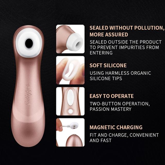 German satisfyer pro 2 Sucking Vibrators G spot Clit Stimulation  Vibration Nipple Sucker Erotic Adult Sex women toys clitoral 5