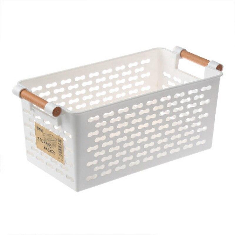 Hot Sale Plastic Desktop Storage Basket Rectangular Bathroom Portable Storage Box Bath Basket Kitchen Debris Multi-Purpose Bas