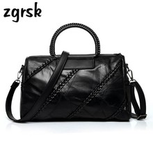 Designer Sheepskin Women Bag Leather Handbag Ladies Shoulder Messenger Bags Famous Brands Woven Rivet Black Clutch Bolsos