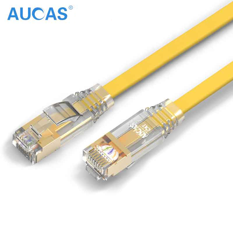 5 10 15 M M M Aucas 10 Gigabit Réseau câble de brassage Rj45 Ftp Câble câble plat modem routeur Ethernet Lan Ordinateur Profession