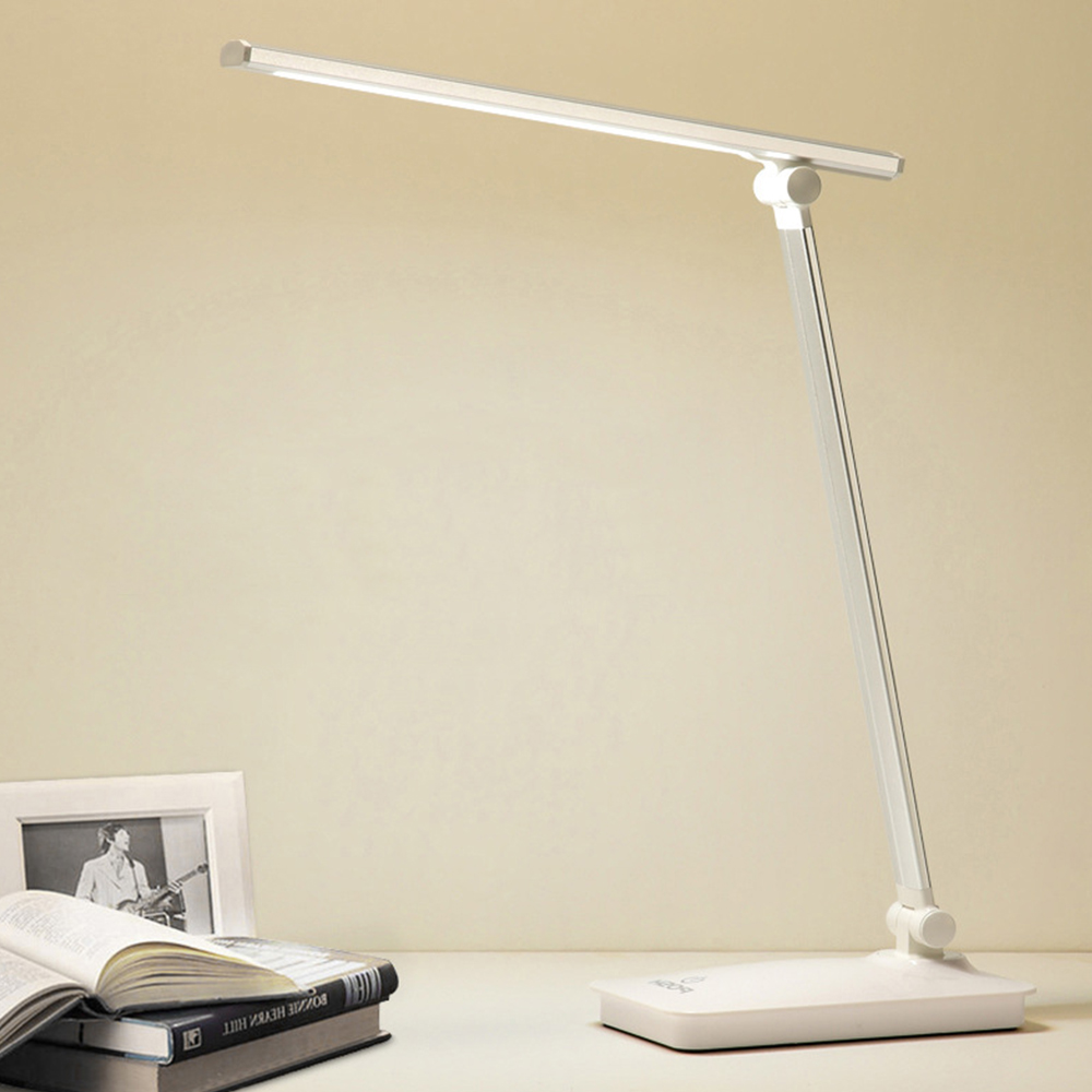 White Light DimmableLED Desk Lamp 2018 Modern Aluminum USB Touch Switch Foldable Reading Light Table Lamps for Office Decoration Desk Lamps     - title=