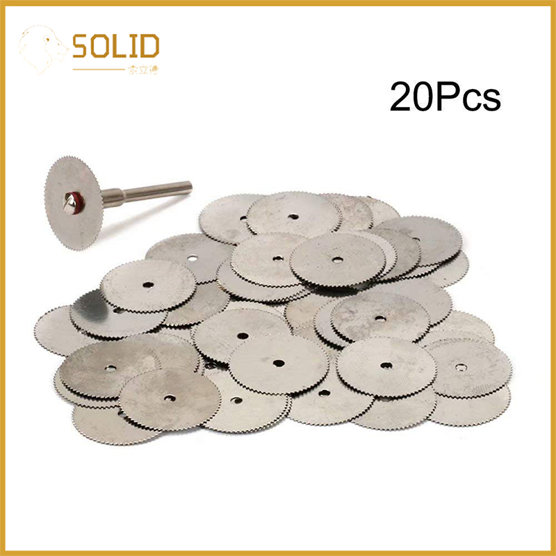 22mm Stainless Steel Cutting Disc Circular Saw Blade Rotary Tool With 2Pcs 1/8
