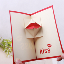 10pcs/lot stereo 3D greeting card good quality Birthday custom Valentines Day Invitations Party Supplies