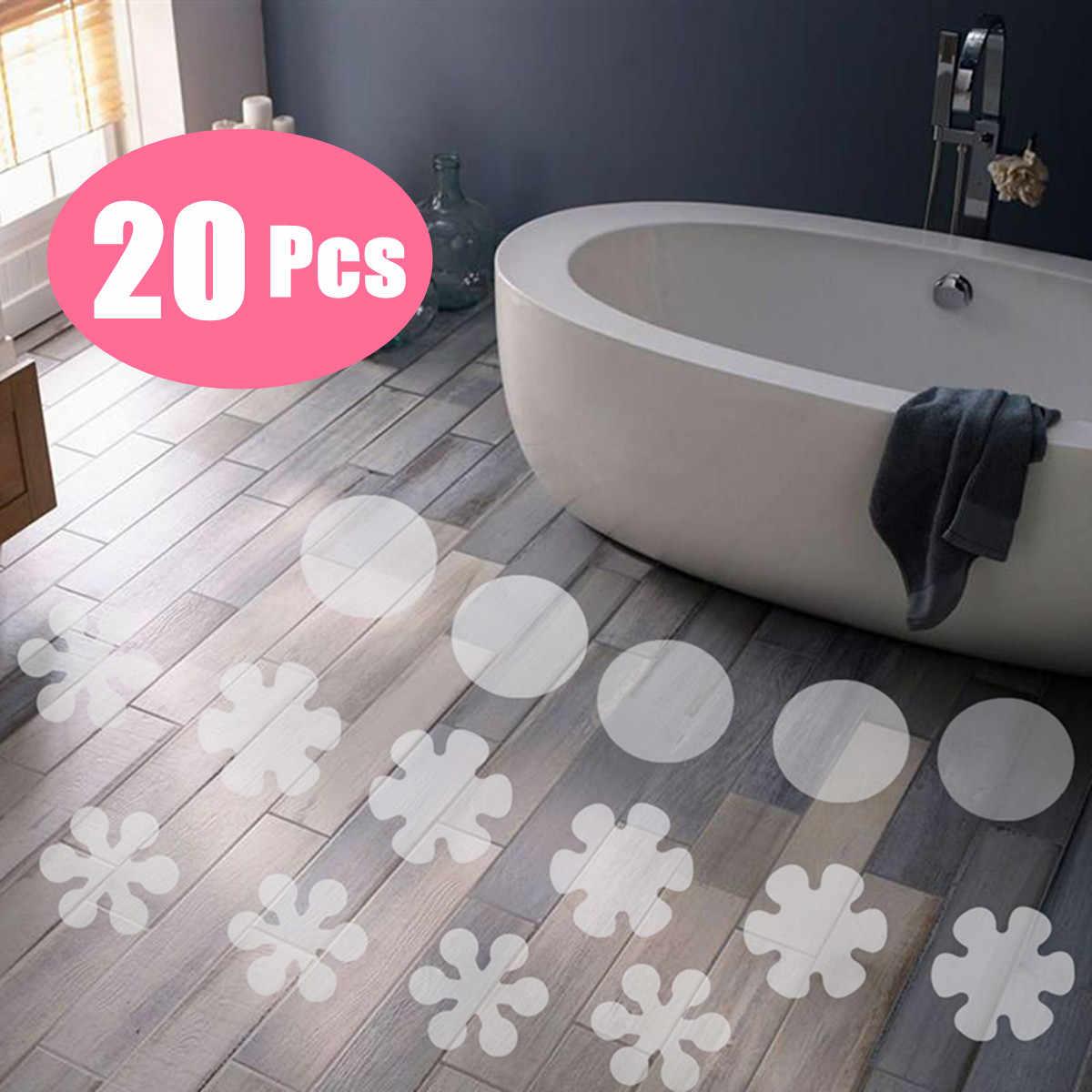 20 Non Anti Slip Bathtub Flower Stickers Tub Shower Decals Waterproof Appliques