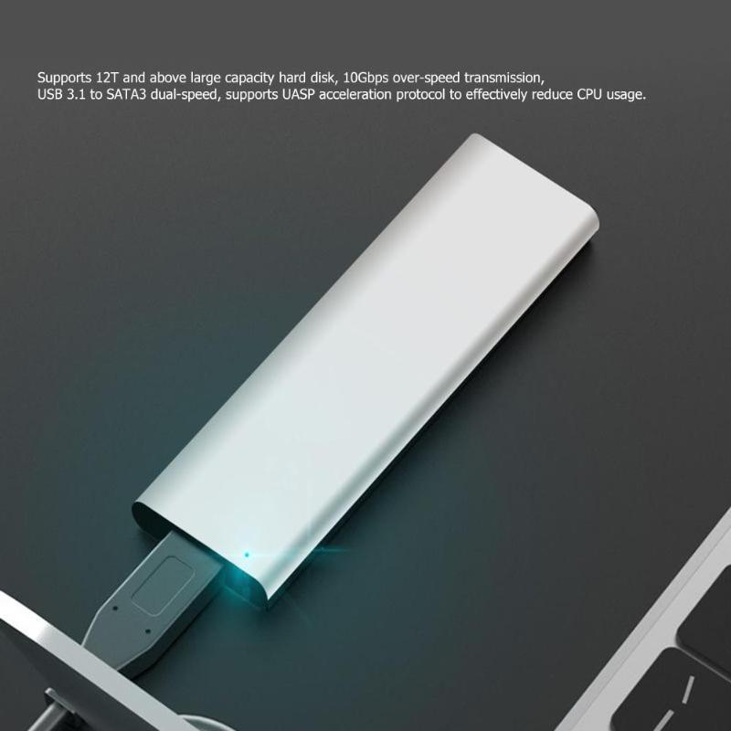 Aluminium Alloy USB3.1 Type-C To M.2 NGFF SSD 10Gbps High Speed Hard Disk Box External Enclosure Hard Drive High Quality