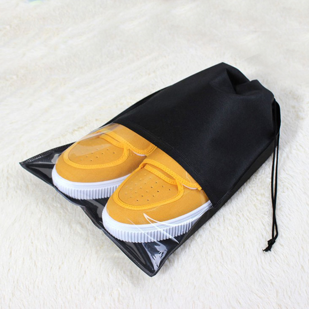 Fashion Women Men Shoes Bag Non-woven Fabric Travel Drawstring Shoes Cloth Bags Pouch Case Travel Organizer Shoes Accessories