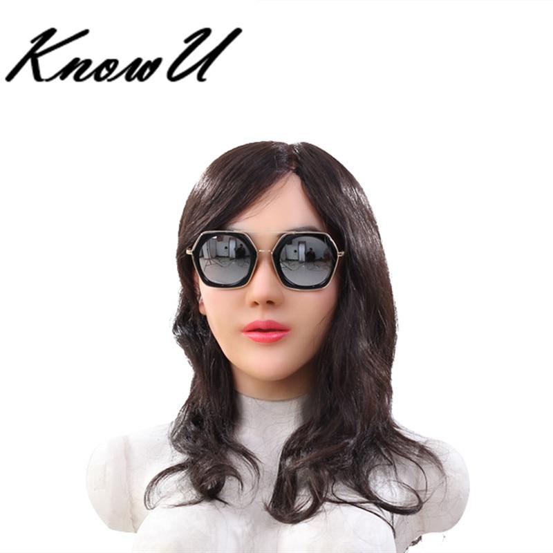 KnowU Halloween Female Silicone Headwear Crossdresser Realistic Mask masque f minin en silicone