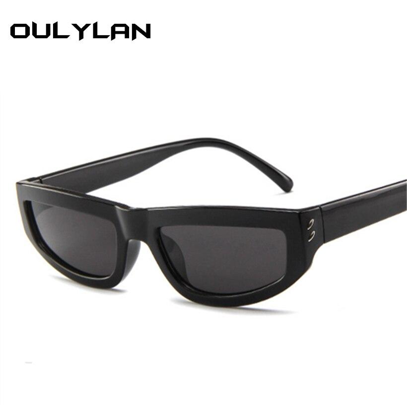 100% Wahr Oulylan Frauen Mode Sonnenbrille Rechteck Vintage Männer Sonnenbrille Luxus Marke Designer Rote Brille Uv400 Brillen Shades