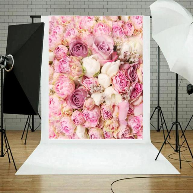 Lovely Flower Backdrop Digital Background Photography Screen Cloth Photographic Pink Studio Backdrop Props Photo Accessories