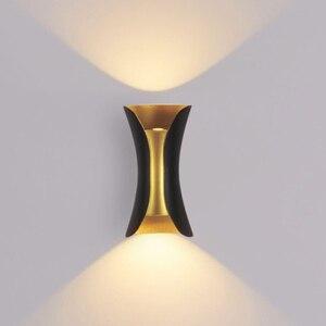 Image 3 - Luminária moderna de parede ip65 para áreas externas, para áreas externas, 12w e 24w, led, para parede, sala, aisle, parque, paisagem, jardim luz clara