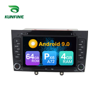 Android 9.0 Core PX6 A72 Ram 4G Rom 64G Car DVD GPS Multimedia Player Car Stereo For Peugeot 308 2011 2012 2013 radio headunit