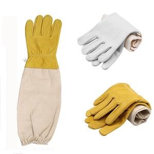 Image 1 - Beekeeping Anti bee Protective Gloves Goatskin Bee Keeping Vented Long Sleeves beekeeping equipment and tools