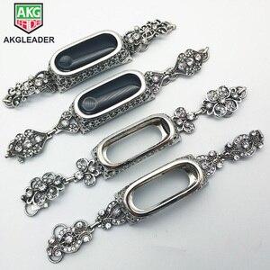 Image 1 - Dla Xiao mi mi 3 mi 4 zespół metalowy kryształowy diament bransoletka z paskiem na rękę zespół dla Xiao mi mi zespół 4 3 od zegarków damska bransoletka do zegarka