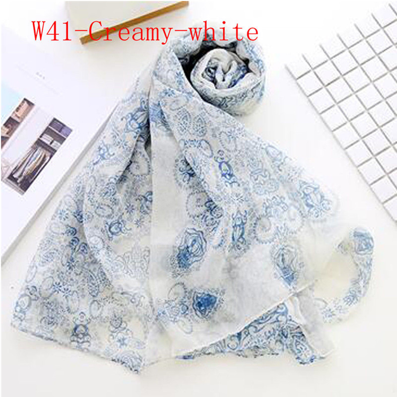 Women Fashion Soft Long Neck Large Scarf Wrap Shawl Voile Stole Dot Chiffon Scarves Gift For All Seasons