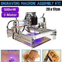 500mw Desktop Laser Engraving Engraver Machine Kit DIY Cutter Printer 20x17cm Milling Machine wood router