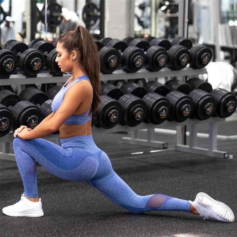 Для женщин спортивный костюм женский спортивная для тренажерный зал фитнес  костюмы женская спортивная одежда спортивная комплект 242ecc2df33