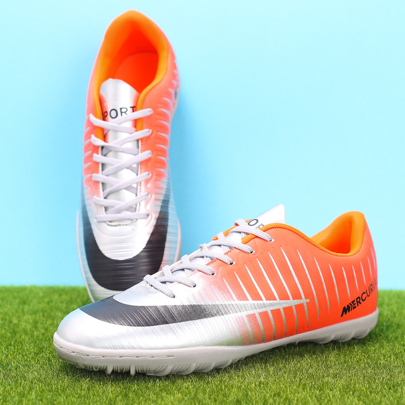 CR Football Shoes Ag Spike Male Assassin Training Shoes Female Children Artificial Grass Earth Shoes Mare Spikes sneakers