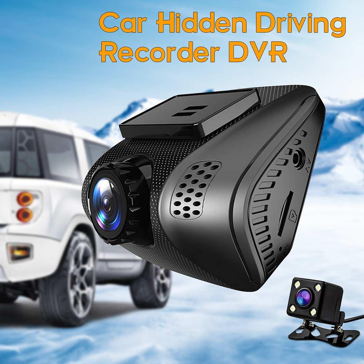 Dvr de voiture Mini caméra embarquée wi-fi Full HD 1080 P webcam de tableau de bord pour vision de nuit Registrator enregistreur vidéo Caméscope enregistreur vidéo double objectif App Contrôle