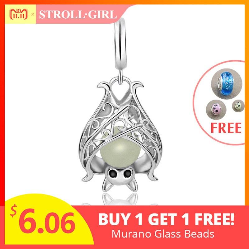 StrollGirl de plata 925 bat creciente encantos colgante de cuentas Fit original pandora pulsera diy moda joyería para mujeres regalos