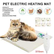 3/10 Gear 220V 20W/30W/35W S/M/L Waterproof Electric Pets Dogs Cats Heating Pad Blanket Warmer Bed Mat Cotton Waterproof Home(China)