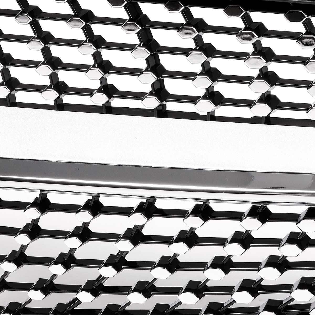 1x Grille de calandre de Style diamant avant de voiture pour Mercedes pour Benz C classe W205 C200 C250 C300 C350 2015-18 sans caméra - 6