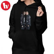 Marcus And Martinus bluza z kapturem Marcus And Martinus bluzy z kapturem z długim rękawem Kawaii bluzy z kapturem kobiet XXL drukowane Pulower bawełniany bluza z kapturem(China)