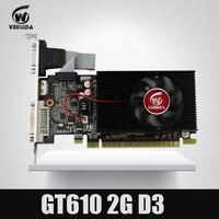 Veineda Дисплей vga карты GT610 2 ГБ DDR3 700/1000 мГц для nVIDIA Geforce игры PC