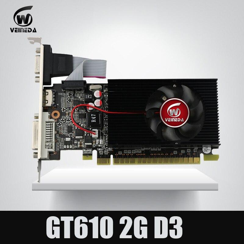 Veineda display vga carte GT610 2 gb DDR3 700/1000 mhz per nVIDIA Geforce Gioco PC