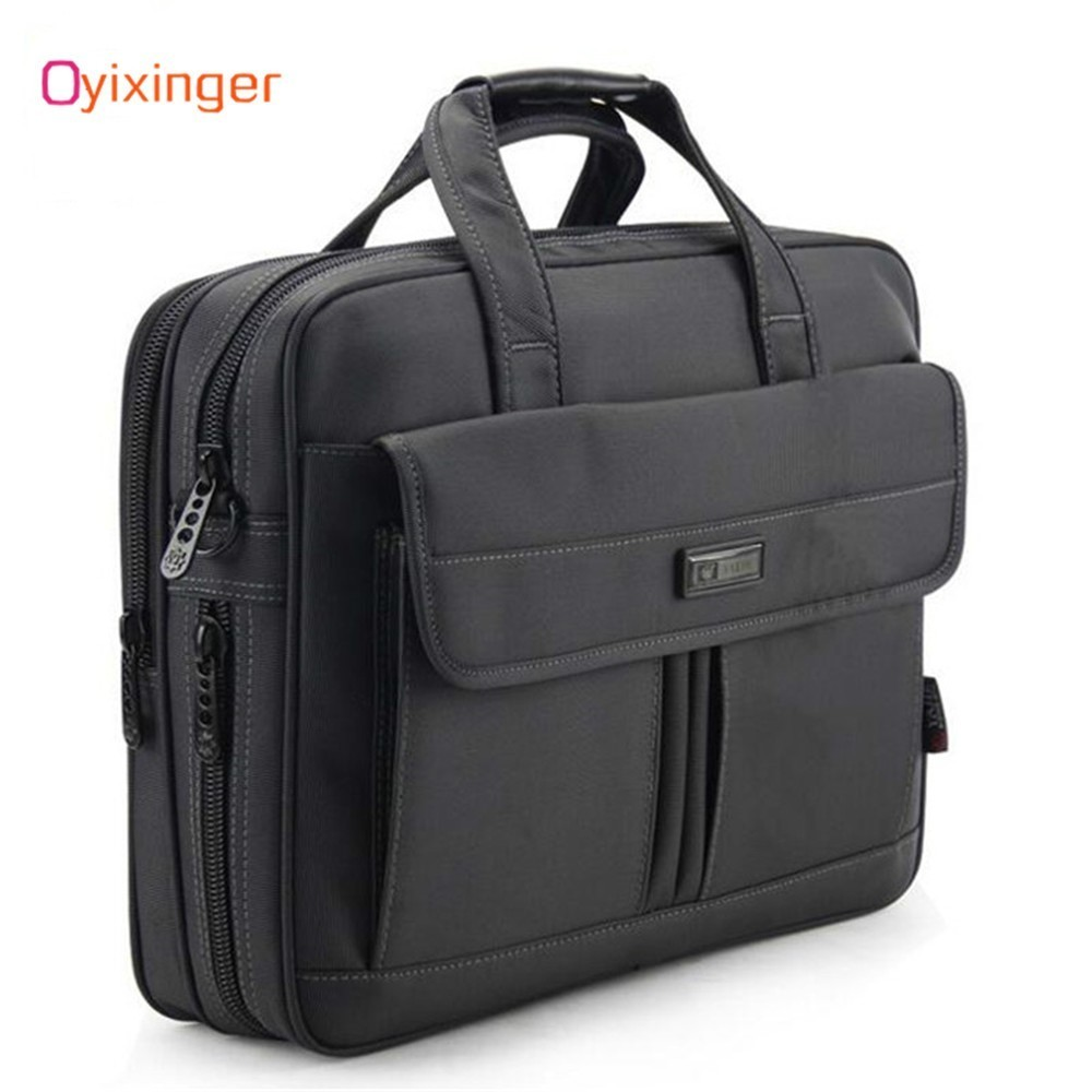 OYIXINGER Men Handbag Men's Briefcase Lawyer Laptop-Bag Business Travel Waterproof Luxury