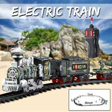 Classic Electric Simulation Rail Train Chargeable Steam RC T