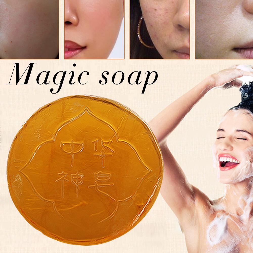 1 PC Universal Magic Soap Oil Control Soap Body Skin Exfoliating Whitening Natural Bath Shower Remover Cleansing Magic Soap