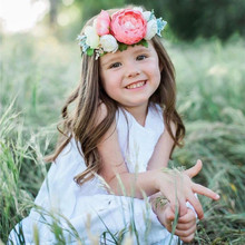 3Pcs/set Kids Girl Baby Toddler Flower Headband Hair Band Headwear Elastic  Newborn Photography Accessories